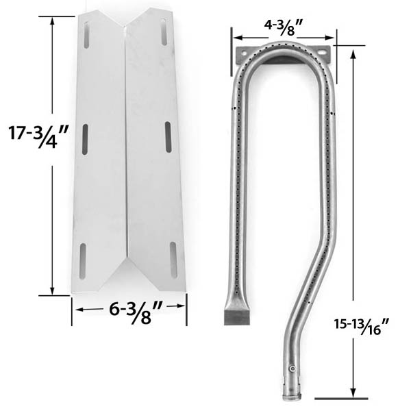 REPAIR-KIT-FOR-JENN-AIR-720-0337-BBQ-GAS-GRILL-INCLUDES-1-STAINLESS-BURNER-AND-1-STAINLESS-HEAT-PLATE-1
