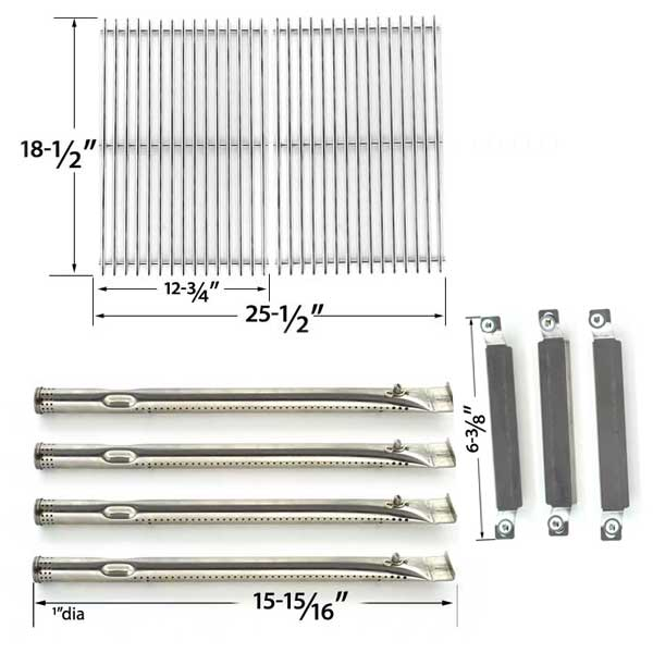 REPAIR-KIT-FOR-KENMORE-SEARS-16644-BBQ-GAS-GRILL-INCLUDES-4-STAINLESS-STEEL-BURNERS-3-CROSSOVER-TUBES-AND-STAINLESS-STEEL-COOKING-GRATES-1