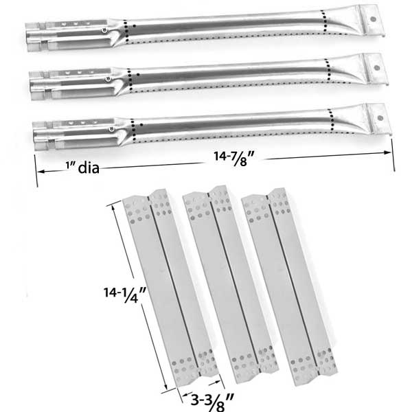 REPAIR-KIT-FOR-NEXGRILL-720-0825-BBQ-GAS-GRILL-INCLUDES-3-STAINLESS-BURNERS-AND-3-STAINLESS-HEAT-PLATES