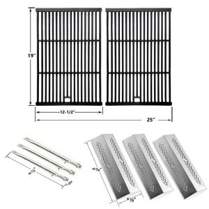 REPAIR-KIT-FOR-STERLING-526454-526464-536454-536464-BBQ-GAS-GRILL-INCLUDES-3-STAINLESS-BURNERS-3-STAINLESS-HEAT-PLATES-AND-CAST-COOKING-GRATES-1