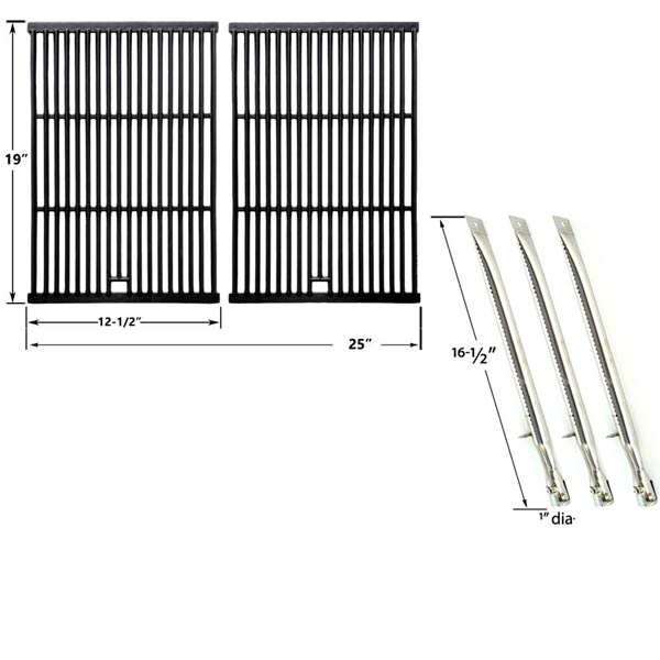 REPAIR-KIT-FOR-STERLING-526454-526464-536454-536464-BBQ-GAS-GRILL-INCLUDES-3-STAINLESS-BURNERS-AND-CAST-IRON-COOKING-GRATES-1