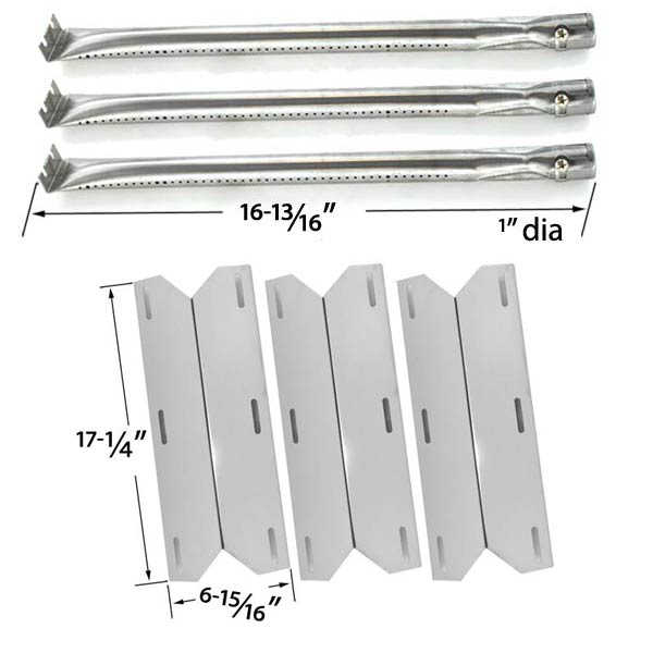 REPLACEMENT-CHARMGLOW-720-0230-720-0036-HD-05-HOME-DEPOT-3-BURNER-GAS-GRILL-MODEL-3-STAINLESS-STEEL-BURNERS-3-STAINLESS-STEEL-HEAT-PLATES-1
