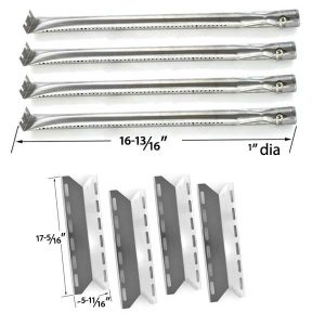 REPLACEMENT-CHARMGLOW-720-0234-NEXGRILL-720-0033-720-0234-720-0289-REBUILD-KIT-4-STAINLESS-BURNERS-AND-4-HEAT-PLATES-1