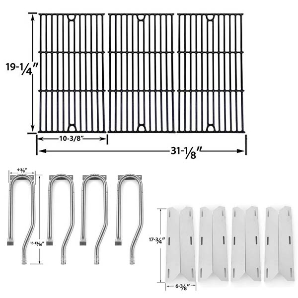 REPLACEMENT-FOR-JENN-AIR-GAS-BARBEQUE-GRILL-MODEL-720-0337-720-0337-GAS-GRILL-REPAIR-KIT-INCLUDES-4-STAINLESS-HEAT-PLATES-1
