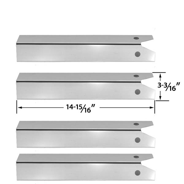 GRILL PARTS REPLACEMENT FOR UNIFLAME GBC850W GAS GRILL REPAIR KIT INCLUDES 4 STAINLESS HEAT
