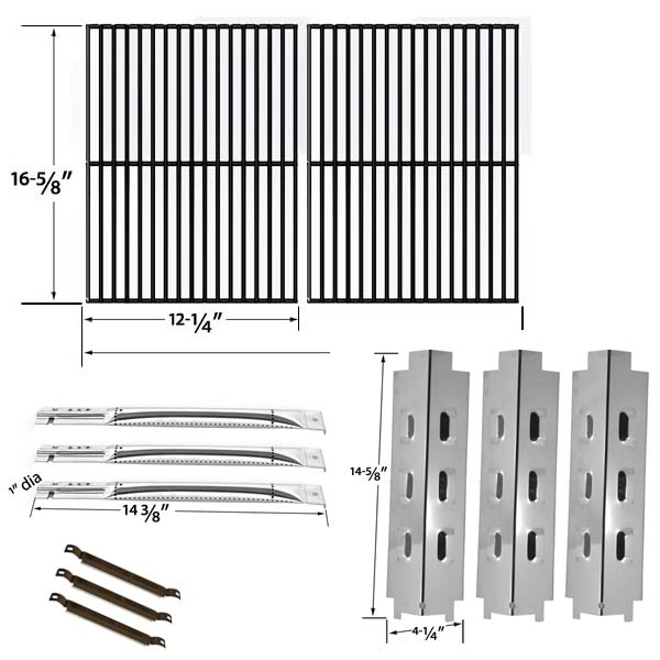 REPLACEMENT-REPAIR-KIT-FOR-CHARBROIL-463320109-GAS-GRILL-3-STAINLESS-STEEL-BURNERS-3-STAINLESS-HEAT-SHIELDS-1