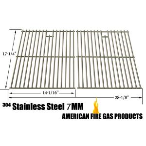 REPLACEMENT STAINLESS STEEL COOKING GRID FOR AUSSIE 6703C8FKK1, 6804S8-S11, 6804T8KSS1, 6804T8UK91, 67A4T09K21, BRINKMANN 810-9490-F, 810-8425-S, 810-9490-0 AND GRILL CHEF SS72B GAS GRILL MODELS, SET OF 2