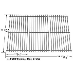 REPLACEMENT STAINLESS STEEL COOKING GRID FOR BRINKMANN 810-9415W, 810-9415-W, 810-8411-5, PRO SERIES 8300, 810-2410-S, 810-7490-F, CHARMGLOW 810-8410-F, 810-8410-S AND GRILLADA GAS GRILL MODELS, SET OF 3