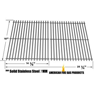 REPLACEMENT STAINLESS STEEL COOKING GRID FOR DUCANE 3100, 3200, 3073101, AFFINITY 3100, 31421001, AFINITY 3200, AFFINITY 3300, AFFINITY 3400, AFFINITY 4100, 4100, AFFINITY 4200, AFFINITY 4400 GAS GRILL MODELS, SET OF 2