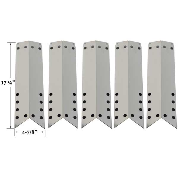 STAINLESS-HEAT-SHIELD-FOR-KENMORE-122.16648900-16648-720-0650A-640-82960819-9-720-0430-(5-PK)-GAS-MODELS