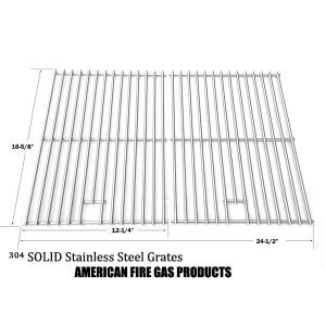 STAINLESS STEEL COOKING GRID REPLACEMENT FOR CENTRO 2000, 4000, 85-1210-2, 85-1250-6, 85-1273-2, 85-1286-6, G40204, G40205, G40304, G40305, G40202 GAS GRILL MODELS, SET OF 2