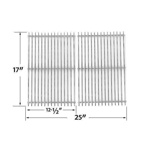 STAINLESS-STEEL-COOKING-GRID-REPLACEMENT-FOR-CHARBROIL-463250509-463250510-461262409-AND-BROIL-MATE-8218TEXAN25-8248TEXAN50-GAS-GRILL-MODELS-SET-OF-2