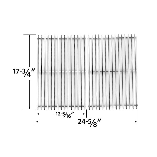 STAINLESS-STEEL-COOKING-GRID-REPLACEMENT-FOR-DCS-PC-2600-PC-26001-PC-2600L-PC-2600N-PCA-2600L-PCA-2600N-GAS-GRILL-MODELS-SET-OF-2