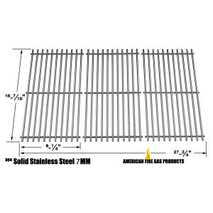 STAINLESS STEEL COOKING GRID REPLACEMENT FOR GAS GRILL MODELS BACKYARD CLASSIC BY13-101-001-12 AND KENMORE 146.16132110, 146.16133110, 146.1613211, 146.23678310, 146.23679310, 640-05057371-6, 640-05057373-6, SET OF 3
