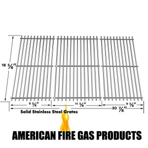 STAINLESS STEEL COOKING GRID REPLACEMENT FOR KENMORE 119.16658010, 119.16658011, MASTER FORGE B10LG25 AND MASTERBUILT 10041006 GAS GRILL MODELS, SET OF 3