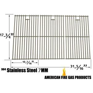 STAINLESS STEEL COOKING GRID REPLACEMENT FOR KENMORE 148.1637110, 148.1615621, MASTER CHEF L3218, MASTER FORGE E3518-LP, L3218, 3218LTN, 3218LT, 3218LTM, DG0576CC, E3518-LPG GAS GRILL MODELS, SET OF 3
