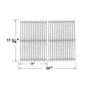 STAINLESS-STEEL-COOKING-GRID-REPLACEMENT-FOR-PERFECT-FLAME-SLG2007B-SLG2007BN-63033-64876-AND-BBQTEK-GSF2818K-GSF2818KL-GAS-GRILL-MODELS-SET-OF-2