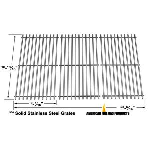 STAINLESS STEEL COOKING GRID REPLACEMENT FOR SHINERICH KINGSTON SRGG51111, HENDERSON SRGG51111, KENMORE 463420507 GAS GRILL MODELS, SET OF 3