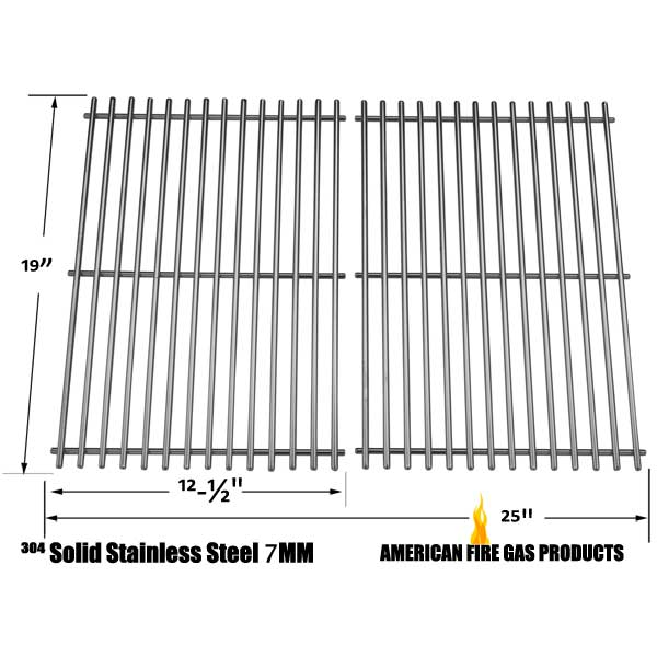 STAINLESS STEEL COOKING GRIDS FOR MEMBERS MARK 04ANG, MONARCH04ALP, MONARCH04ANG, Y0655, Y0656 GAS GRILL MODELS, SET OF 2