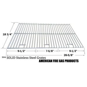 STAINLESS STEEL REPLACEMENT COOKING GRID FOR SELECT GAS GRILL MODELS BY CHARBROIL 463210310, 463210511, 463211511, 463211512, 463211513, 463211711, BBQ PRO BQ05041-28, BQ51009 IGS IGS-2504 AND OUTDOOR GOURMET BQ06043-1, BQ06WIC, SET OF 3