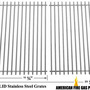 WEBER-GENESIS-7526-7525-7527-9869-GENESIS-1000-3500-SOLID-STAINLESS-COOKING-GRID-SET-OF-2