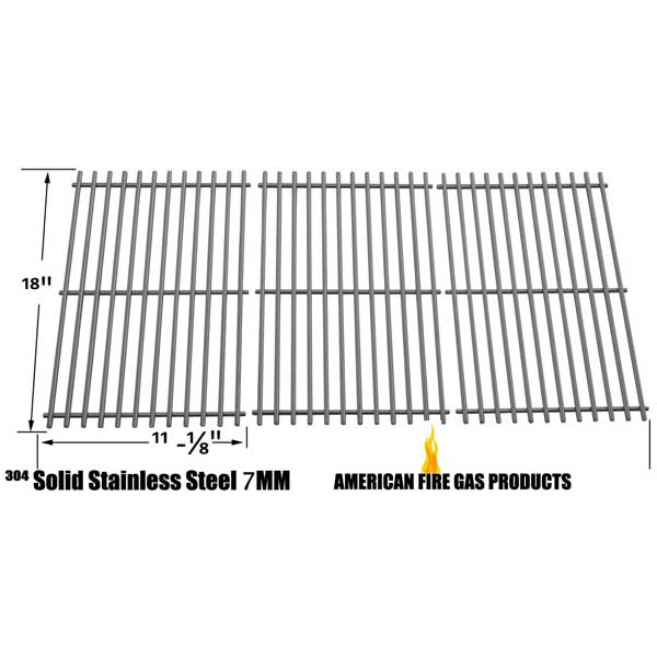 STAINLESS STEEL COOKING GRID FOR UNIFLAME GBC772W, GBC772W-C, GBC873W, GBC873W-C, GBC873WNG, GBC873WNG-C GAS GRILL MODELS