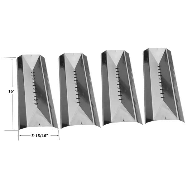 Replacement 4 Pack Stainless Steel Heat Shield For Cuisinart G41208, G41209, G52505, G52506 Gas Grill Models