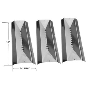 Replacement 3 Pack Stainless Steel Heat Shield For Cuisinart C782SR, 85-3032, 85-3032-4, 85-3057-6, 85-3058-4 Gas Grill Models