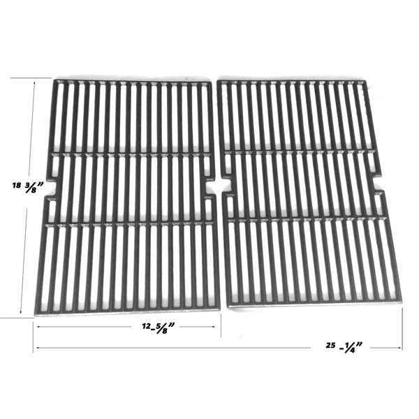 Replacement 2 Pack Cast Iron Cooking Grates For Master Chef G45301, G45302, G45309 Gas Grill Models