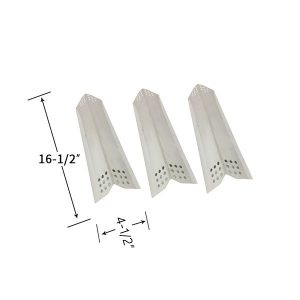 Replacement Stainless Steel 3 Pack Heat Shield For Kitchen Aid 720-0819 Gas Grill Model
