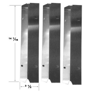 Replacement Stainless Steel 3 Pack Heat Shield For Outdoor Gourmet SRGG30001C Gas Grill Model
