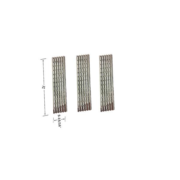 Replacement 3 Pack Stainless Steel Heat Shield For Viking VGBQ030-2T, VGBQ300T, VGBQ410T Gas Grill Models