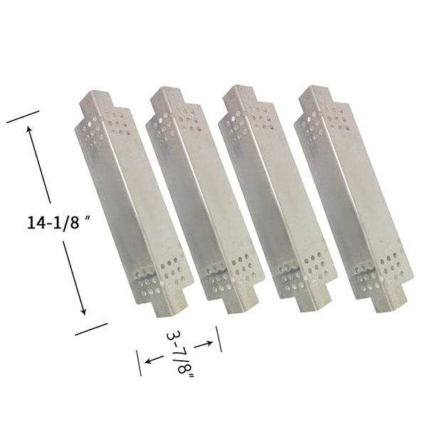 Replacement Stainless Steel 4 Pack Heat Shield For Charbroil 463621612, 463621811 Gas Grill Models