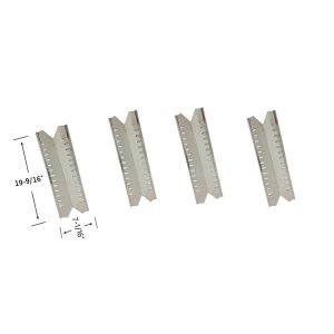 4 Pack Replacement Stainless Steel Heat Shield For Master Forge 30030MSF Gas Grill Model