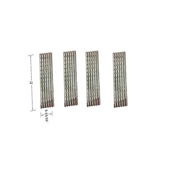 Replacement 4 Pack Stainless Steel Heat Shield For Viking VGBQ030-2T, VGBQ300T, VGBQ410T Gas Grill Models