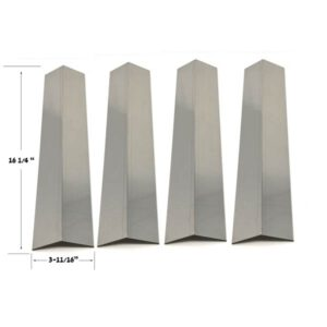 Replacement Stainless Steel 4 Pack Heat Shield For Life@Home 25775 Gas Grill Model