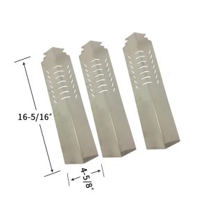 Replacement Stainless Steel 3 Pack Heat Shield For Cuisinart 85-3030-8, 85-3031-6 Gas Grill Models