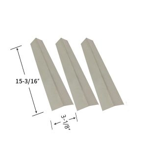 Replacement 3 Pack Stainless Steel Heat Shield For Grillada GG60000-4B Gas Grill Model