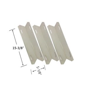 Replacement Stainless Steel 3 Pack Heat Shield For Member's Mark 720-0582, 720-0582B Gas Grill Models