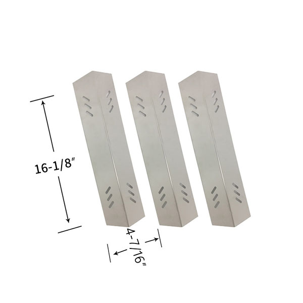Replacement Stainless Steel 3 Pack Heat Shield For Member's Mark BQ06043-1, BQ06043-1-N, BQ06043-1, M3206ALP Gas Grill Models