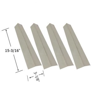 Replacement Stainless Steel 4 Pack Heat Shield For Henderson SRGG5111 Gas Grill Model