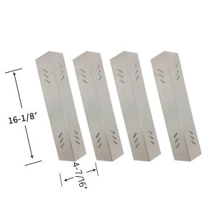 Replacement Stainless Steel 4 Pack Heat Shield For Outdoor Gourmet B070E4-A, BQ06043-1, B09SMG1-3F Gas Grill Models