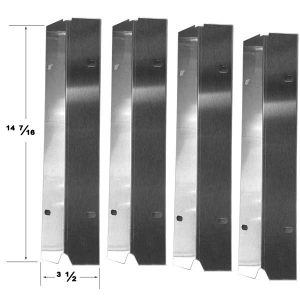 Replacement Stainless Steel 4 Pack Heat Shield For Tera Gear 314168 Gas Grill Model