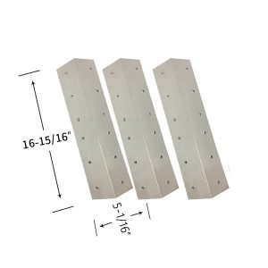 Stainless Steel 3 Pack Heat Shield For Brinkmann PRO SERIES 4040, 810-4040-0, PRO SERIES 4345, 810-4345-0 Gas Grill Models