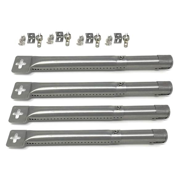 """ADJUSTABLE 12"""" TO 17-1/2"""" GAS GRILL STAINLESS BURNER 42204-4 PACK"""
