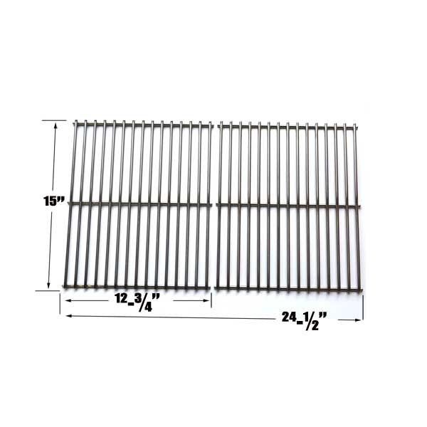 STAINLESS STEEL 2 PACK COOKING GRATES FOR CHARBROIL GG9476, 4858761, 4638872, 4668985 GAS MODELS