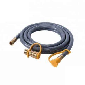 "(12 FT) 3/8"" NATURAL GAS HOSE WITH QUICK CONNECT 3/8 INCLUDES QUICK CONNECT FITTING WHICH CONNECTS TO 3/8"" MALE PIPE THREAD"
