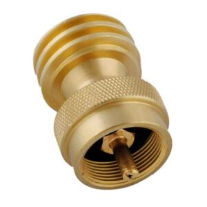 1LB TO 20LB PROPANE TANK ADAPTER, CONNECTOR DESIGNED FOR 20LB OR 30PB LP GAS CYLINDER OR BBQ GRILL PROPANE TREE - 1LB PROPANE ADAPTER FOR DISPOSABLE THROWAWAY CYLINDER, MADE OF SOLID BRASS