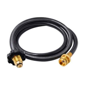 HIGH PRESSURE ADAPTER 5-FOOT (60IN) HOSE CONNECT TO YOUR PORTABLE GAS GRILL TO A 20 LB PROPANE TANK