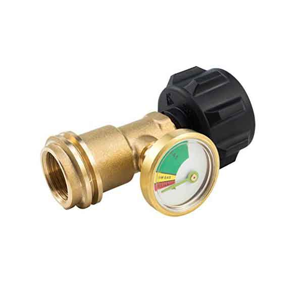 PROPANE TANK GAUGE/LEAK DETECTOR COMPATIBLE WITH ALL APPLIANCES WITH A ACME/QCC1/TYPE1 CONNECTION AND IS IDEAL FOR PROPANE TANKS OF UP TO 40LBS